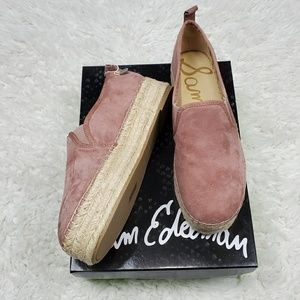 Sam Edelman Carrin Dusty Rose Espadrilles Size 8